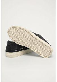 Czarne sneakersy D.A.T.E. z okrągłym noskiem, z cholewką, na sznurówki