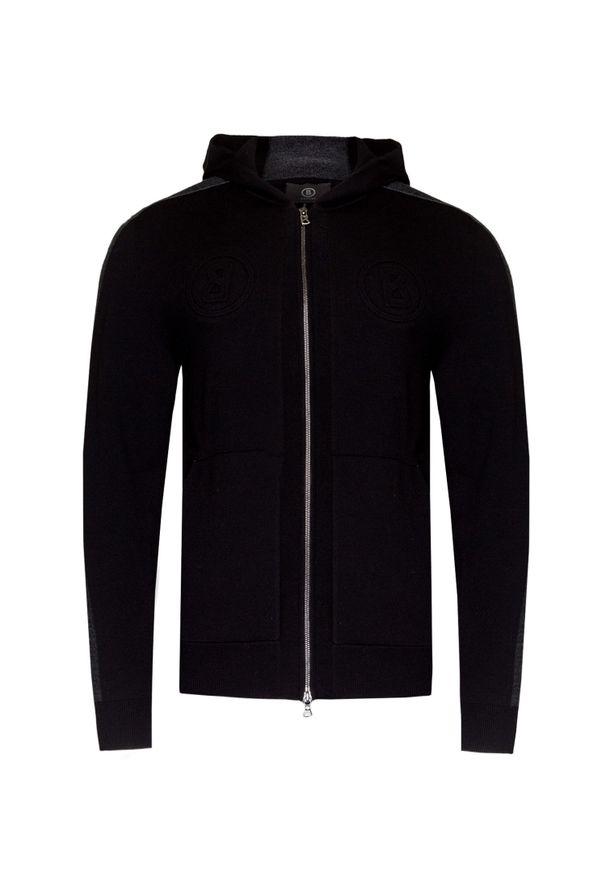 Czarny sweter Bogner sportowy, w kolorowe wzory