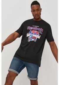 Czarna bluzka Reebok Classic z nadrukiem