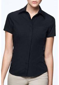 Czarna bluzka IVET z krótkim rękawem, krótka