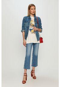 Niebieskie jeansy bootcut Wrangler z podwyższonym stanem