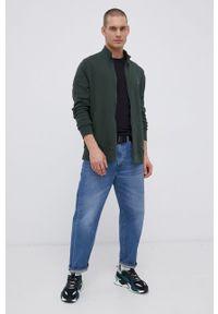 Wrangler - Bluza bawełniana. Okazja: na co dzień. Kolor: zielony. Materiał: bawełna. Wzór: nadruk. Styl: casual