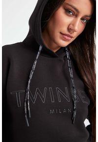 Twinset Milano - BLUZA TWINSET. Typ kołnierza: kaptur. Wzór: nadruk