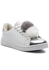 Nelli Blu - Sneakersy NELLI BLU - CP40-8620J White/Silver. Kolor: biały. Materiał: skóra ekologiczna, materiał. Szerokość cholewki: normalna. Wzór: aplikacja