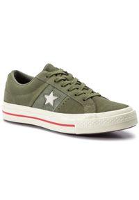 Zielone trampki Converse z cholewką
