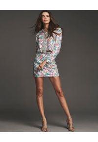 RETROFETE - Kolorowa spódnica mini Zoey. Kolor: wielokolorowy, różowy, fioletowy. Wzór: kolorowy