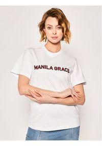 Biały t-shirt Manila Grace
