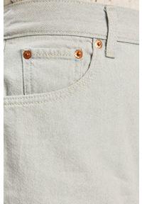 Levi's® - Levi's - Szorty jeansowe. Okazja: na co dzień, na spotkanie biznesowe. Stan: podwyższony. Kolor: niebieski. Materiał: jeans. Styl: casual, biznesowy