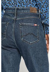 Niebieskie jeansy loose fit Mustang z podwyższonym stanem