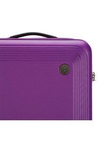 Fioletowa walizka Wittchen w kolorowe wzory