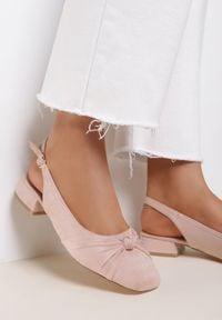 Renee - Różowe Sandały Jennilin. Kolor: różowy