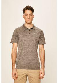 Szara koszulka polo columbia melanż, krótka, polo