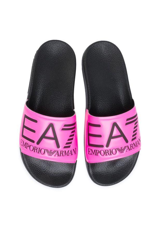 Różowe klapki EA7 Emporio Armani