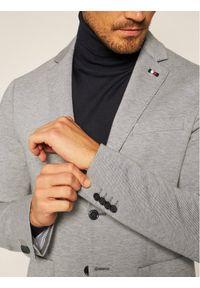 Tommy Hilfiger Tailored Marynarka Flex Structure Blazer TT0TT07863 Szary Slim Fit. Kolor: szary