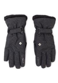 Szare rękawiczki sportowe Reusch narciarskie
