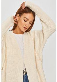 Beżowy sweter rozpinany Answear Lab z długim rękawem, długi, na co dzień