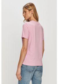 Różowa bluzka Pieces casualowa, na co dzień