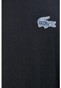 Niebieska bluza nierozpinana Lacoste z aplikacjami, casualowa