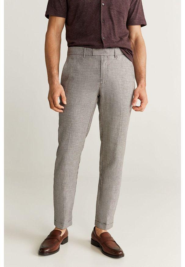 Brązowe spodnie Mango Man na co dzień, casualowe