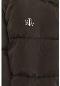 Czarna kurtka Lauren Ralph Lauren casualowa, z kapturem, na co dzień