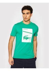 Lacoste T-Shirt TH9654 Zielony Regular Fit. Kolor: zielony