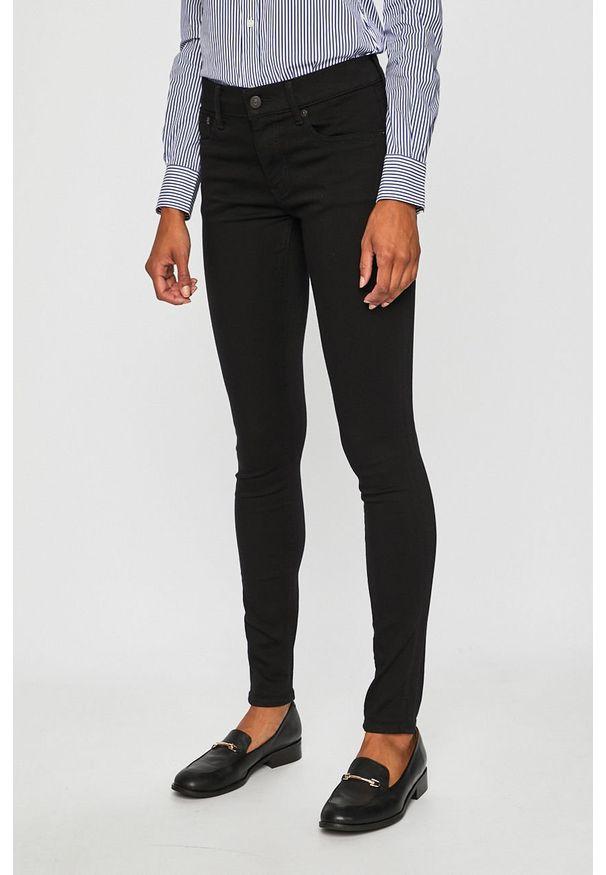 Czarne jeansy Polo Ralph Lauren gładkie