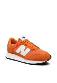 New Balance - Sneakersy NEW BALANCE - MS237CD Pomarańczowy. Kolor: pomarańczowy. Materiał: skóra, materiał, zamsz. Szerokość cholewki: normalna