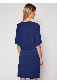 Niebieska sukienka dzianinowa Luisa Spagnoli