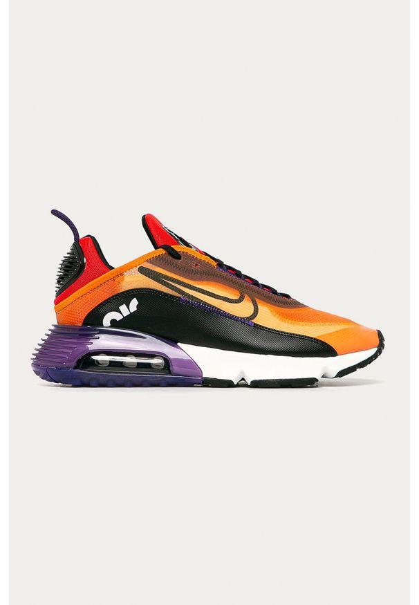 Pomarańczowe sneakersy Nike Sportswear z cholewką, Nike Air Max, na sznurówki