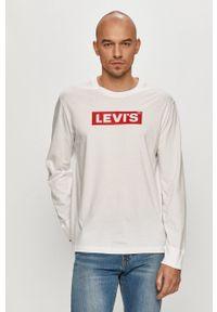 Levi's® - Levi's - Longsleeve. Okazja: na co dzień, na spotkanie biznesowe. Kolor: biały. Długość rękawa: długi rękaw. Wzór: nadruk. Styl: biznesowy, casual