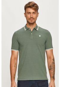 Zielona koszulka polo G-Star RAW z aplikacjami, casualowa