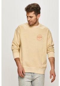 Levi's® - Levi's - Bluza bawełniana. Okazja: na spotkanie biznesowe. Kolor: beżowy. Materiał: bawełna. Wzór: aplikacja. Styl: biznesowy