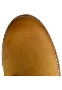 Brązowe buty trekkingowe Panama Jack z aplikacjami, na sznurówki