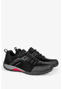 Badoxx - Czarne buty trekkingowe sznurowane badoxx mxc8811/g. Kolor: wielokolorowy, czarny, szary