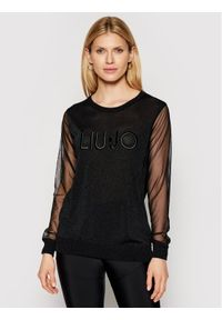 Czarny sweter klasyczny Liu Jo
