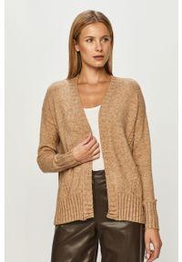 Beżowy sweter rozpinany only na co dzień, casualowy