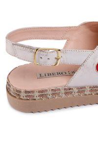 Beżowe sandały Libero z aplikacjami, eleganckie
