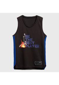 TARMAK - Koszulka bez rękawów do koszykówki T500 THE BEST PLAYER dla dzieci. Kolor: czarny, niebieski, wielokolorowy. Materiał: poliester, materiał. Długość rękawa: bez rękawów. Sport: koszykówka