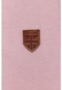 Pepe Jeans - Bluza Anne. Okazja: na co dzień. Typ kołnierza: kaptur. Kolor: różowy. Materiał: dzianina. Wzór: gładki. Styl: casual