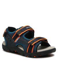 Geox Sandały J S.Strada A J1524A 014CE C4324 S Granatowy. Kolor: niebieski