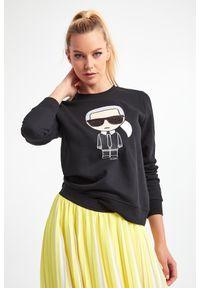 Karl Lagerfeld - BLUZA KARL LAGERFELD. Okazja: na co dzień. Materiał: bawełna. Wzór: haft, aplikacja. Styl: casual