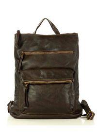 Marco Mazzini handmade - Skórzany Brązowy Plecak od Marco Mazzini. Kolor: brązowy. Materiał: skóra