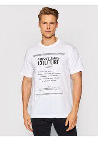 Versace Jeans Couture T-Shirt Garanzia 71GAHT02 Biały Regular Fit. Kolor: biały