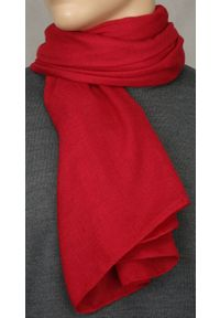 Czerwony szalik Teer elegancki, na spacer