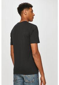 Czarny t-shirt Levi's® z nadrukiem, casualowy, na spotkanie biznesowe