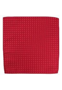 Czerwona poszetka Alties w kolorowe wzory