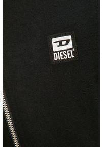 Czarna bluza rozpinana Diesel casualowa, z kapturem, na co dzień