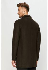 Zielony płaszcz Clean Cut Copenhagen klasyczny, bez kaptura, na co dzień