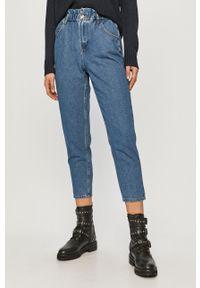 Niebieskie jeansy loose fit only gładkie