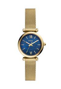 Fossil - FOSSIL - Zegarek ES5020. Kolor: złoty. Materiał: materiał